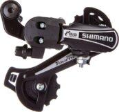 Переключатель скоростей задний Shimano Tourney RD-TY21-B-GS, с креплением на болт, чёрный - Фото 1