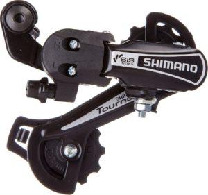Переключатель скоростей задний Shimano Tourney RD-TY21-B-GS, с креплением на болт, чёрный