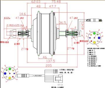 Мотор-колесо Ebike T79C 48V 500W заднее редукторное под кассету - Фото 4