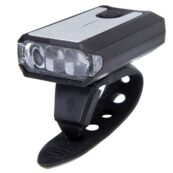 Фонарь передний 3 диода, Li-ion 3.7V 300mAh зарядка от USB, влагозащищенный, черно-серый JY-7015 - Фото 1