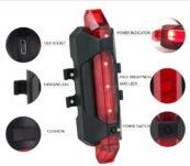 Фонарь габаритный задний BC-TL5411 красный 5 светодиодов USB - Фото 1